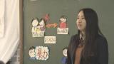 大阪府立松原高校の「課題研究」で子どもの虐待問題をテーマに選んだ加桜さん(C)関西テレビ