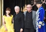 (左から)昆夏美、アラン・メンケン氏、ビル・コンドン氏、山崎育三郎 (C)ORICON NewS inc.