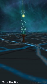 アプリ「L'Arcollection(ラルコレ)」で展開中の位置情報ゲーム画面