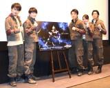『仮面ライダーアマゾンズ』シーズン2の先行試写会に参加した(左から)勝也、小林亮太、俊藤光利、宮原華音、田邉和也 (C)ORICON NewS inc.