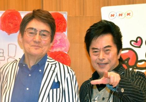 NHK-FM『アニソンアカデミー』取材会に出席した、ささきいさお(左)と水木一郎 (C)ORICON NewS inc.