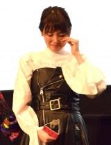 映画『暗黒女子』の初日舞台あいさつに出席した飯豊まりえ (C)ORICON NewS inc.