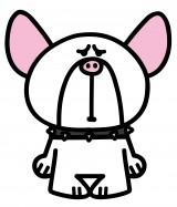 ショートアニメ『ぶっぷな毎日』に登場するフレンチブルドッグの「ジュニア」。体は大きいが、弱虫で泣き虫。いつもいじめられている(C)「ぶっぷな毎日」製作委員会