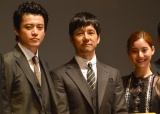 (左から)小栗旬、西島秀俊、新木優子 (C)ORICON NewS inc.