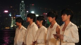 香港でCM撮影を行ったMAG!C☆PRINCEの(左から)平野泰新、永田薫、西岡健吾、阿部周平、大城光