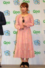『Qoo』の新商品発表会に出席した辻希美 (C)oricon ME inc.