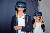 「Bjork Digital —音楽のVR・18日間の実験」での体験の様子(C)Santiago Felipe