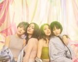 6月14日にメジャーデビューするFAKY(左から)Lil'Fang、Anna、Akina、Mikako