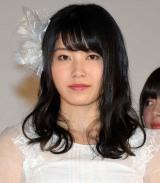 AKB48の48thシングル「願いごとの持ち腐れ」のミュージックビデオ先行上映会に出席した横山由依 (C)ORICON NewS inc.