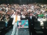仙台で行われた映画『帝一の國』の舞台あいさつに登場した菅田将暉、永井聡監督