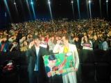 札幌で行われた映画『帝一の國』の舞台あいさつに登場した菅田将暉、永井聡監督
