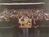 新宿ピカデリーで行われた映画『帝一の國』の舞台あいさつに登場した(左から)間宮祥太朗、菅田将暉、永井聡監督