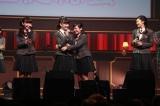 2017年度さくら学院生徒会に選ばれた(左から)麻生真彩、岡崎百々子、山出愛子、岡田愛