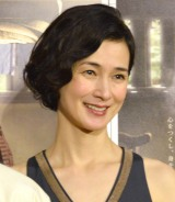 NHKドラマ『みをつくし料理帖』試写会後会見に出席した安田成美 (C)ORICON NewS inc.