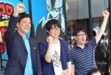 『コロコロコミック伝説カフェ 〜40th ANNIVERSARY〜』のプレス向け内覧会に出席した(左から)森多ヒロ、永井ゆうじ、吉もと誠 (C)ORICON NewS inc.