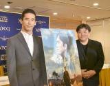 映画『たたら侍』の記者会見に出席した(左から)小林直己、錦織良成監督 (C)ORICON NewS inc.
