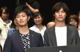 映画『ちょっと今から仕事やめてくる』先行プレミアム上映会に出席した(左から)工藤阿須加、福士蒼汰