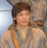 舞台『白蛇伝』のゲネプロ前に行われた囲み取材に出席した兼崎健太郎 (C)ORICON NewS inc.