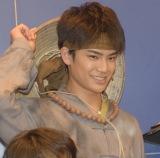 舞台『白蛇伝』のゲネプロ前に行われた囲み取材に出席した秋沢健太朗 (C)ORICON NewS inc.
