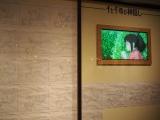 三鷹の森ジブリ美術館で5月27日スタート。新企画展示『食べるを描く。』『千と千尋の神隠し』より、千尋がおにぎりを頬張るシーンの解説パネル (C)ORICON NewS inc.