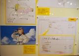 三鷹の森ジブリ美術館の企画展示『食べるを描く。』より。『紅の豚』フィオがレモネードを飲むシーンの解説展示パネル (C)ORICON NewS inc.
