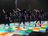 5月26日放送、テレビ朝日系『ミュージックステーション』リハーサル中の私立恵比寿中学(C)テレビ朝日
