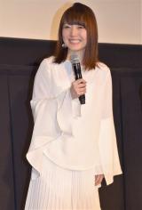 映画『BLAME!』の舞台あいさつに出席した花澤香菜 (C)ORICON NewS inc.