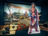 大河ドラマ館で新たに展示された気賀の町のセット小道具、龍雲丸(柳楽優弥)のパネル (C)ORICON NewS inc.