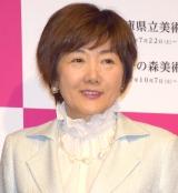『怖い絵展』の記者発表会に参加した中野京子 (C)ORICON NewS inc.