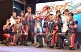 主演の高橋健介ら共演陣が一同に介した『ウルトラマンX』制作発表会 (C)ORICON NewS inc.