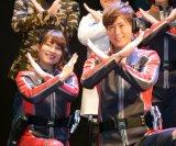 『ウルトラマンX』制作発表会に登場したボイジャー(左から)瀬下千晶、TAKERU (C)ORICON NewS inc.