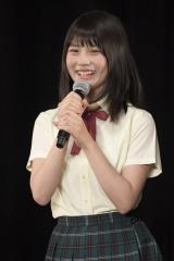 21枚目のシングル「意外にマンゴー」で初選抜&初センターを務めるSKE48の小畑優奈(C)AKS