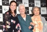 映画『ボンジュール、アン』記者会見に出席した(左から)ダイアン・レイン、エレノア・コッポラ、樹木希林 (C)ORICON NewS inc.