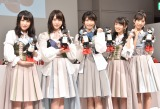 AKB48(左から)川本紗矢、高橋朱里、横山由依、向井地美音、小栗有以 (C)ORICON NewS inc.