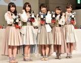 週刊『ロビ2』創刊記念イベントに出席したAKB48(左から)川本紗矢、高橋朱里、横山由依、向井地美音、小栗有以 (C)ORICON NewS inc.
