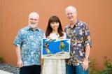 左からロン・クレメンツ監督、早穂夫人、ジョン・マスカー監督