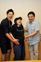 文化放送『グッチ裕三 今夜はうまいぞぉ!』で出産前、最後の仕事をした金田朋子(中央)