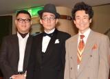 舞台『23階の笑い』のフォトセッションに参加した(左から)長谷川忍、じろう、なだぎ武 (C)ORICON NewS inc.