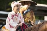 練習した甲斐あって馬に乗るシーンの出来栄えは100点!(C)NHK