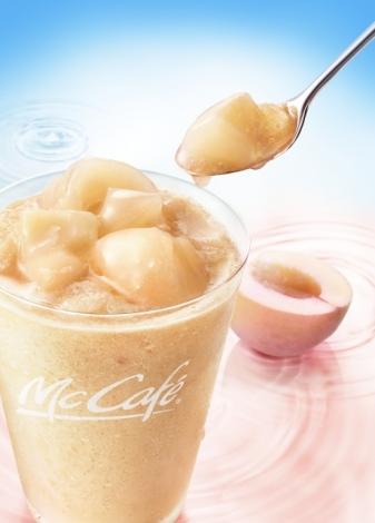 マックカフェ5周年記念で『桃のスムージー』が限定復活!