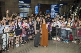 浦東(プードン)空港には現地ファンが殺到した