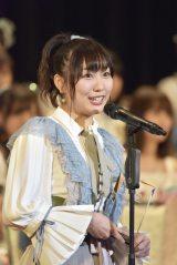 6位にランクインし2年連続の選抜入りを果たしたSKE48・須田亜香里(写真:島袋常貴)