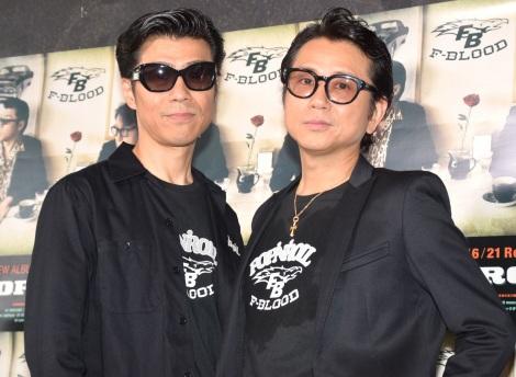 F-BLOOD(左から)藤井尚之、藤井フミヤ=アルバム『POP 'N' ROOL』リリース記念ライブ (C)ORICON NewS inc.