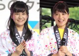 公の場で初仕事をしたテレ朝新人アナ(左から)林美桜、三谷紬 (C)ORICON NewS inc.