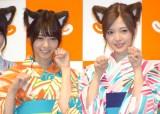 猫耳でキュートなポーズを決める(左から)西野七瀬、白石麻衣 (C)ORICON NewS inc.