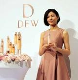 カネボウ化粧品のスキンケアブランド『DEW』のプレス発表会に出席した松下奈緒 (C)oricon ME inc.