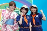 『デリシャカス 2015』ステージイベントに出席したTBSアナウンサーの(左から)林みなほ、宇内梨沙、上村彩子 (C)ORICON NewS inc.
