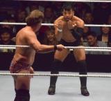 クリス・ジェリコを挑発するヒデオ・イタミ=『WWE Live Tokyo』の模様 (C)ORICON NewS inc.