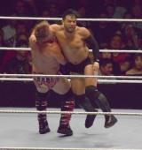 ラリアットするヒデオ・イタミ=『WWE Live Tokyo』の模様 (C)ORICON NewS inc.