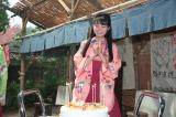 バースデーケーキに喜ぶ葵わかな(C)NHK